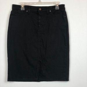 NYDJ Black Denim Mini Skirt